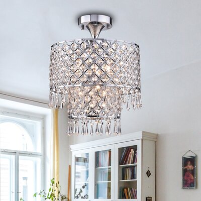 Anika 4-Light Semi Flush Mount Finish: Chrome