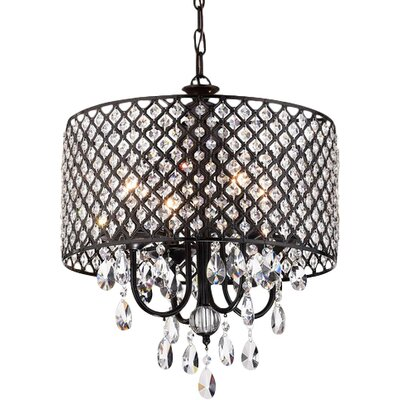 Petunia 4-Light Crystal Chandelier