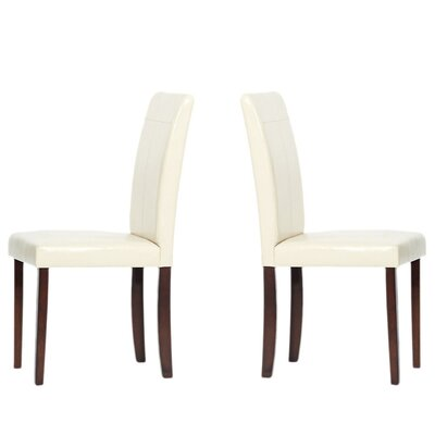 Genuine Leather Upholstered Dining Chairs