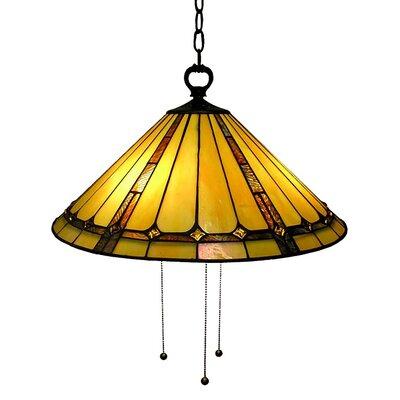 Classic Hanging Lamp 3-Light Inverted Pendant