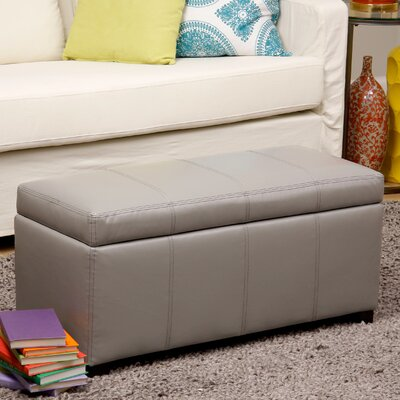Borchardt Faux Leather Storage Bench Color: Gray ANDV1636 42473219