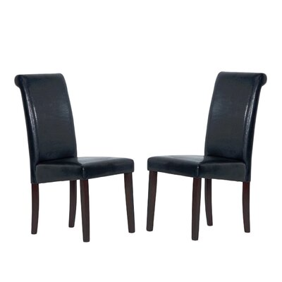 Upholstered Dining Chair Upholstery: Black