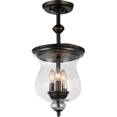Madigan 3-Light Schoolhouse Pendant