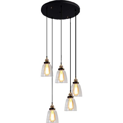 Euna 5-Light Cascade Pendant