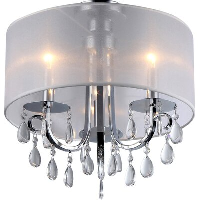 Asterope 3-Light Drum Chandelier
