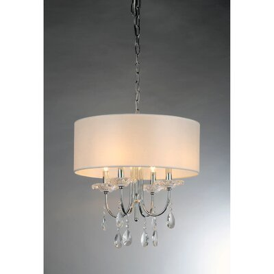 Alexandria Crystal 4-Light Drum Chandelier