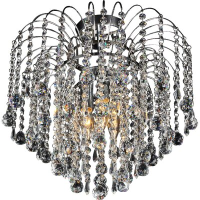 Candace 3-Light Crystal Flush Mount