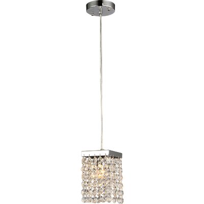 Jehra 1-Light Crystal Pendant