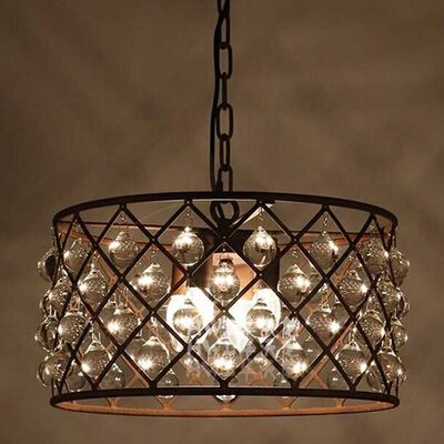 Edison Hattie 3-Light Crystal Chandelier