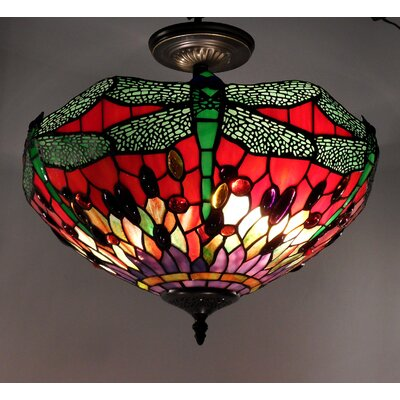 Dragonfly 2-Light Semi Flush Mount