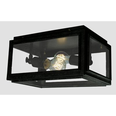 Windee Edison 2-Light Flush Mount