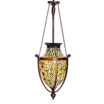 Lacey Stained Glass 1-Light Mini Pendant