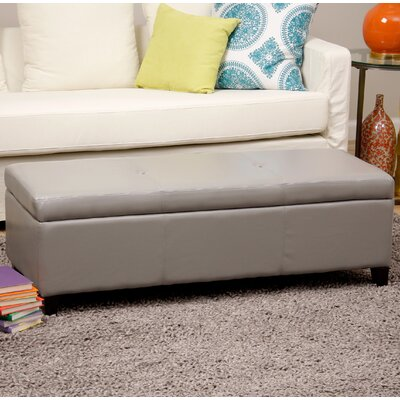 Sharon Faux Leather Storage Bench Upholstery Color: Gray WT-W7077-WB GREY