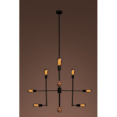 Delia Edison 9-Light Sputnik Chandelier