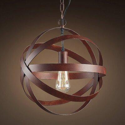 Tabitha Edison 1-Light Globe Pendant