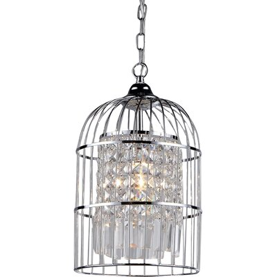 Rheia 1-Light Crystal Pendant