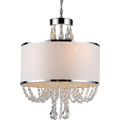 Gaspard 4-Light Drum Chandelier
