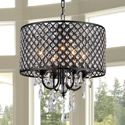 Oisetta 4-Light Crystal Chandelier