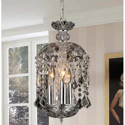 Karla 3-Light Crystal Chandelier
