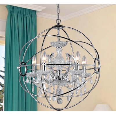 Saturns 4-Light Crystal Chandelier