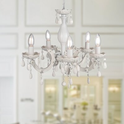 Ecaterina Acrylic 5-Light Candle-Style Chandelier