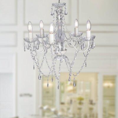 Ealasaid Acrylic 5-Light Candle-Style Chandelier