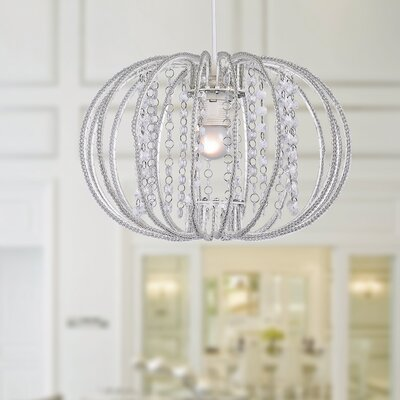 Clerish Acrylic 1-Light Foyer Pendant