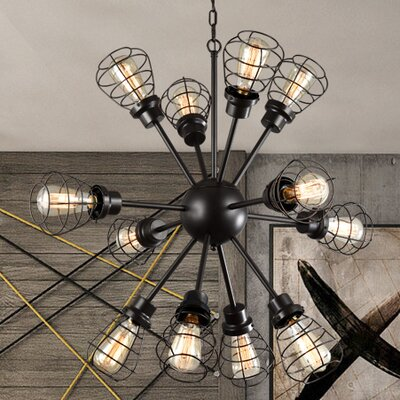 Glennis Edison 12-Light Sputnik Chandelier