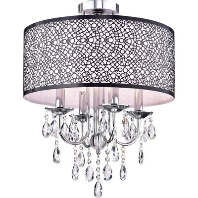 Brookline 4-Light Semi Flush Mount