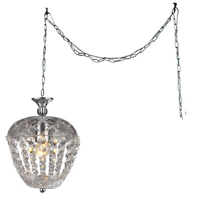 Miriam 1-light Crystal Pendant