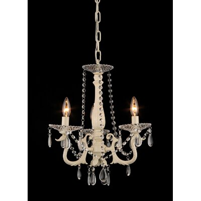 Ritter 3-Light Candle-Style chandelier