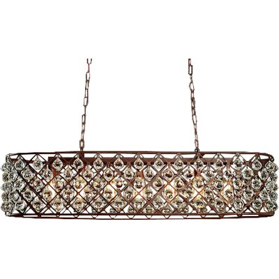 Edison Shekinah 6-Light Kitchen Island Pendant