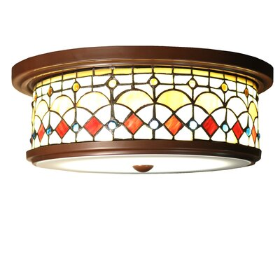 Nissha 3-Light Flush Mount