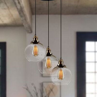 Rosier 3-Light Cascade Pendant