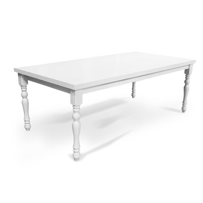 Lynbrook White Wood 82-inch Dining Table