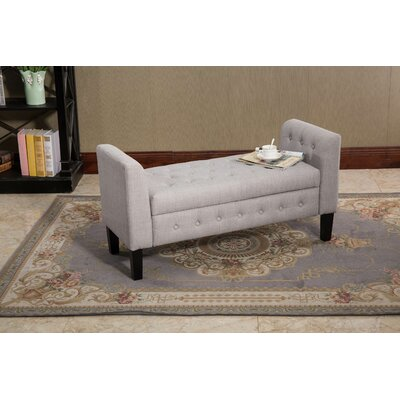 Ferndown Gray Fabric Storage Ottoman