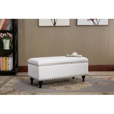 Lenzburg Off-white Fabric Storage Ottoman
