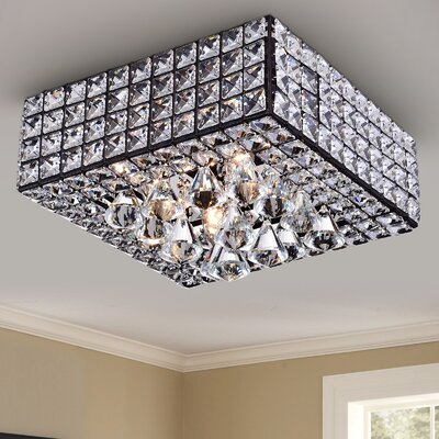 Thora 4-Light Crystal Flush Mount
