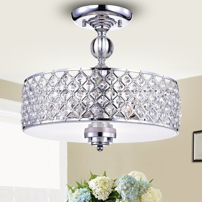 Ja 3-Light Semi Flush Mount