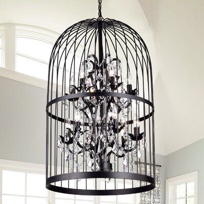 Pridgen Cage 12-Light Foyer Pendant