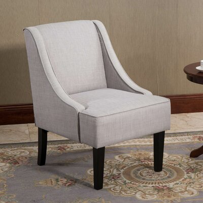Applegate Fabric Winged Accent Side Chair
