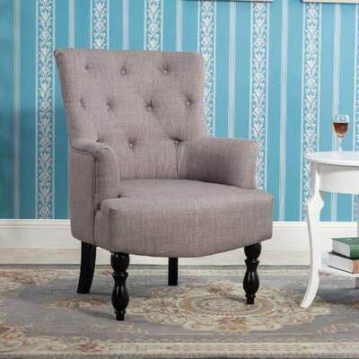 Terrell Curved Back Accent Armchair