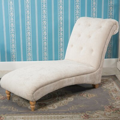 Antonio Stone Scroll End Chaise Lounge