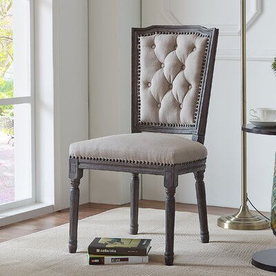 Algrange Weathered Tufted Dining Side Chair