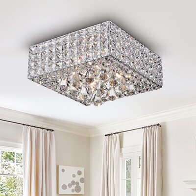 Kayo Crystal 4-Light Flush Mount