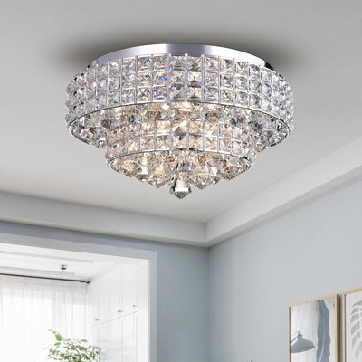 Kersey Crystal 6-Light Flush Mount