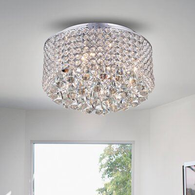 Kinney Crystal Circle 4-Light Flush Mount