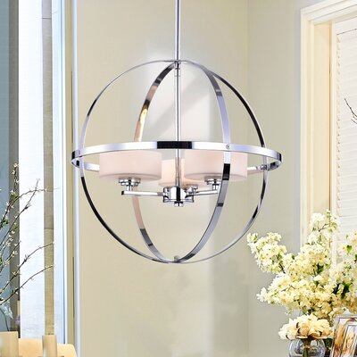 Mariah 3-Light Globe Pendant Finish: Zenta Chrome