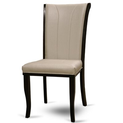 Langleyville Genuine Leather Upholstered Dining Chair