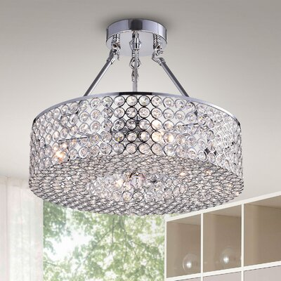 Joseline 3-Light Semi Flush Mount